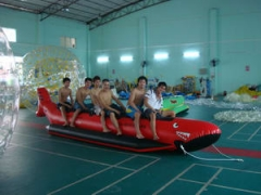 Single Tube Red Inflatable Shark Boat