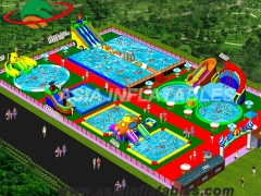 Inflatable Land Water Park Project